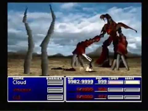 Final Fantasy VII Ruby Weapon Dead Cloud Solo!