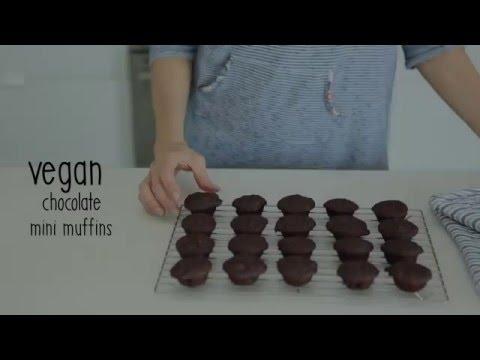 Easy Vegan Chocolate Mini Muffins! | Nourishment Now