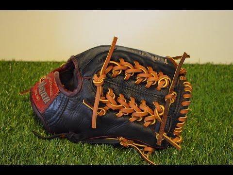 Nokona AMG 1150 Baseball Glove Relace - Before and After Glove Repair