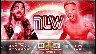 """Lio Rush vs Anthony Gangone-House of Glory Elite Championship Match-NLW """"Stage 2"""" Part 7"""