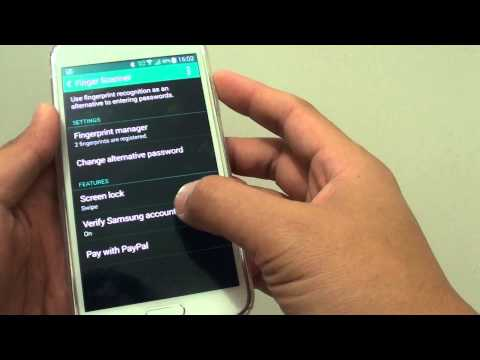 Samsung Galaxy S5: How to Log Into Samsung Account With Fingerprint