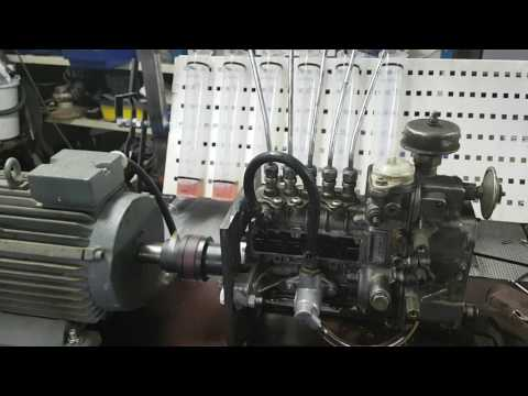 Homemade diesel pump test bench