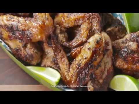 Delish Grilled Jerk Chicken Wings