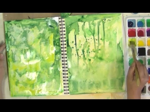 Art Journal Book of Backgrounds Session 1