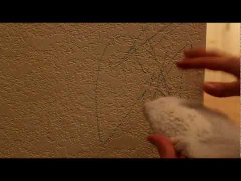 easy to remove crayon or marker from wall