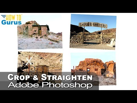 How to crop and save multiple images in a scan to separate files in Photoshop CS5 CS6 CC Tutorial