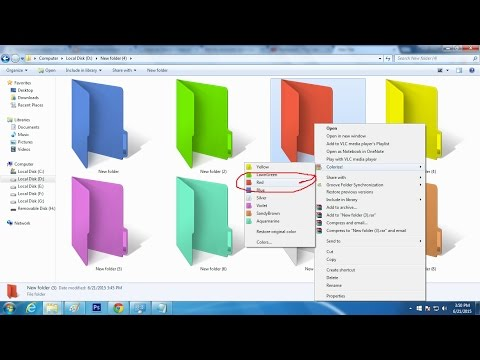How to Change Any Folder Color in Computer 2016 | Bangla Tutorial