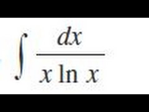 dx / x ln x, Evaluate the indefinite integral.