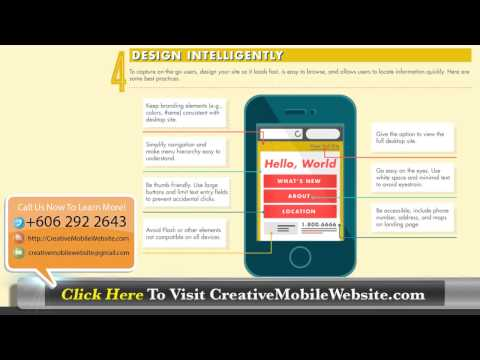 Malaysia Mobile Website Design | Optimizing Mobile Website Infographics | +60 6 2922643
