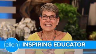 Ellen Welcomes Back Unforgettable Principal Sherrie Gahn