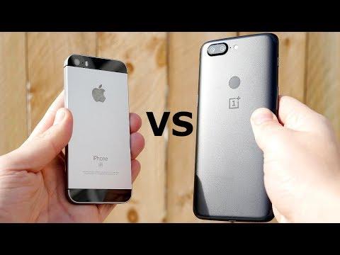 iPhone SE vs OnePlus 5T Speed Test!