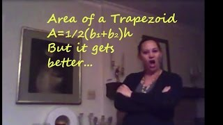 How To Find The Area Of A Trapezoid Area Of A Trapezoid Song