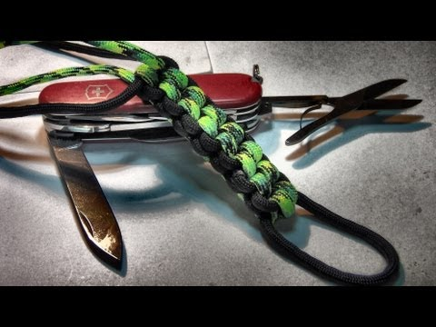 How to tie / make a paracord box / square knot paracord lanyard ( 2 color tutorial )