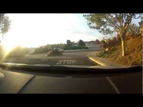 Drive from La Jolla Alta to San Diego International Airport, Cell Phone Lot, via I5 in 1080p