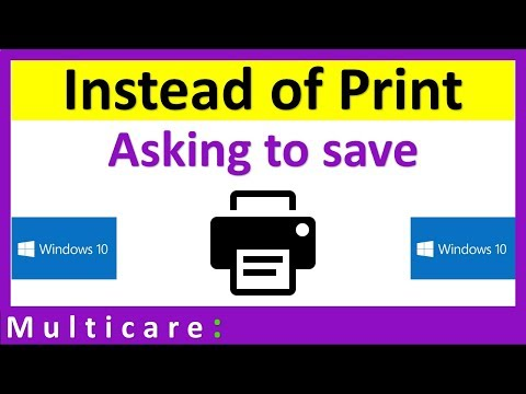 How to fix Printer Asking for Save Instead of Print in windows 10