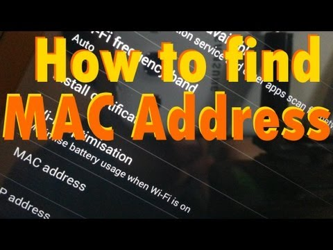 How to find MAC / Mac Address on Nexus 7 2013