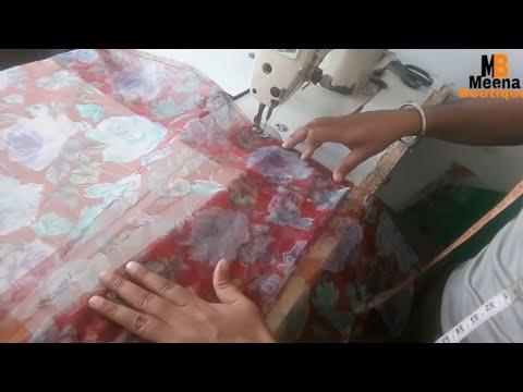 HOW TO MAKE READYMADE SAREE IN HINDI  / LEHENGA SAREE MAKING/SAREE STITCHED