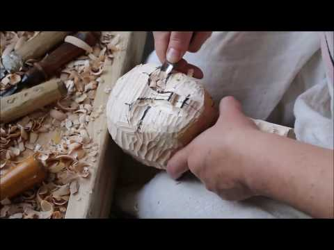 Wooden ART DOLL 'In the mood for jazz' TIME-LAPSE