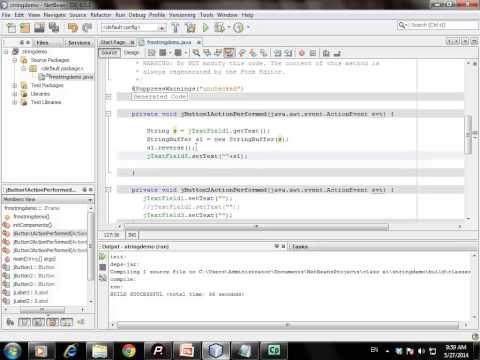 Reverse of String using NetBean IDE