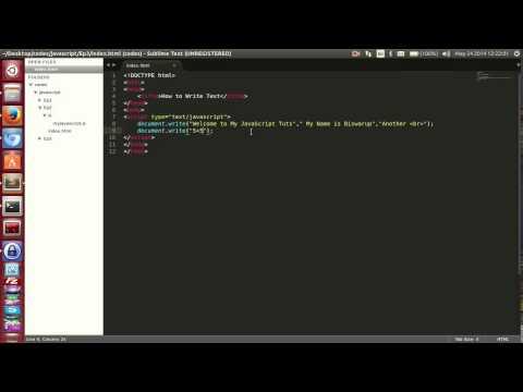 003 Javascript Tutorial   How to Write using write function   Ep 3