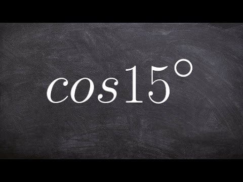 How to find the exact value using the half angle formula for cosine