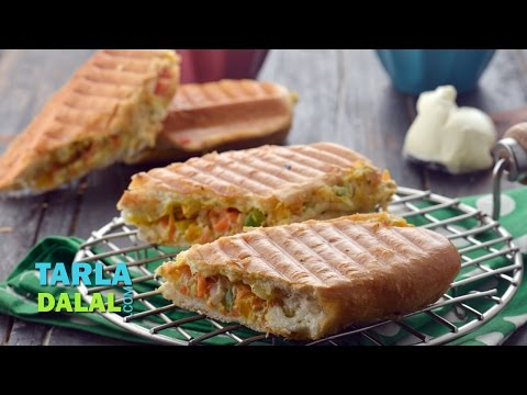 Cream Cheese Veg Panini by Tarla Dalal