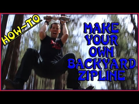 HOW TO MAKE YOUR OWN 100' Backyard ZIP LINE | Build Your Own Homemade DIY Zipline | Sensei Ryan