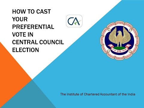 How to cast vote in CA Elections