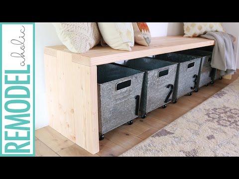 DIY 2x6 Bench, Modern Waterfall Bench Tutorial