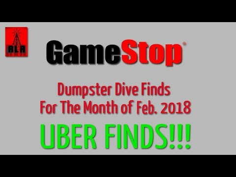 GameStop Dumpster Dive Feb. 2018 - Finds for the month