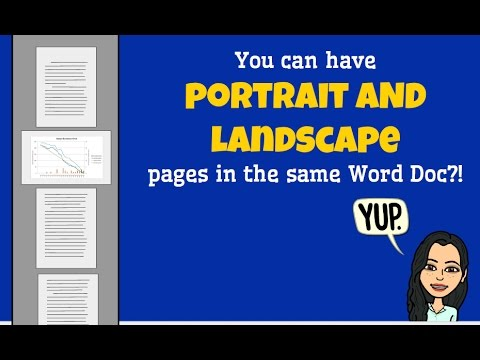TechTip:  Portrait AND Landscape pages in the same Word Doc.
