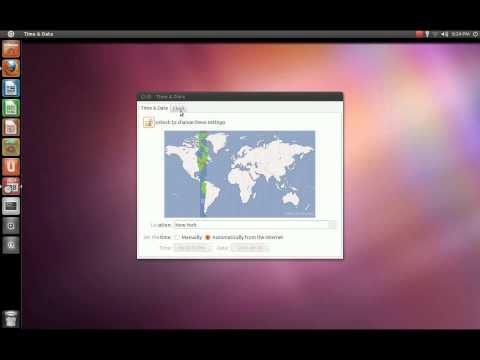 Change Time and Date Settings in Ubuntu 11.04