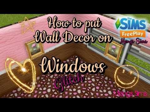 How to put a Wall Decor on Windows | Glitch | The Sims FreePlay 😊 | Mengs Sims 🖤