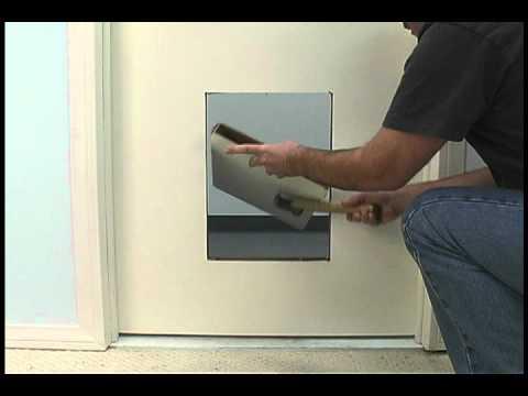 Installing The Original Plastic Pet Door By Ideal Pet Products