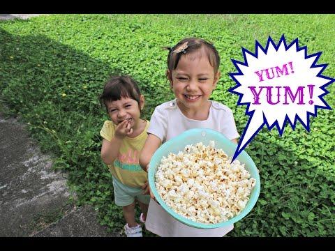 Homemade Honey Popcorn (no machine) with Hanna and Mia