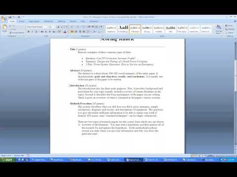 How to write a research paper and a literature review paper