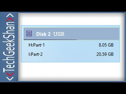 How to Create Two Partitions in USB / PenDrive