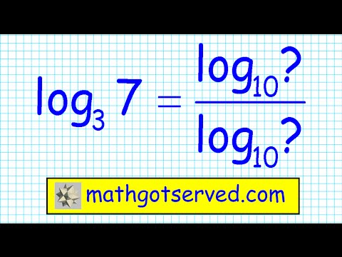 Change of base formula for logarithms algebra logs exponents
