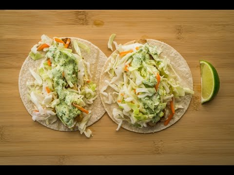 Chef Becky's Fish Tacos with Cilantro-Lime Ranch Dressing
