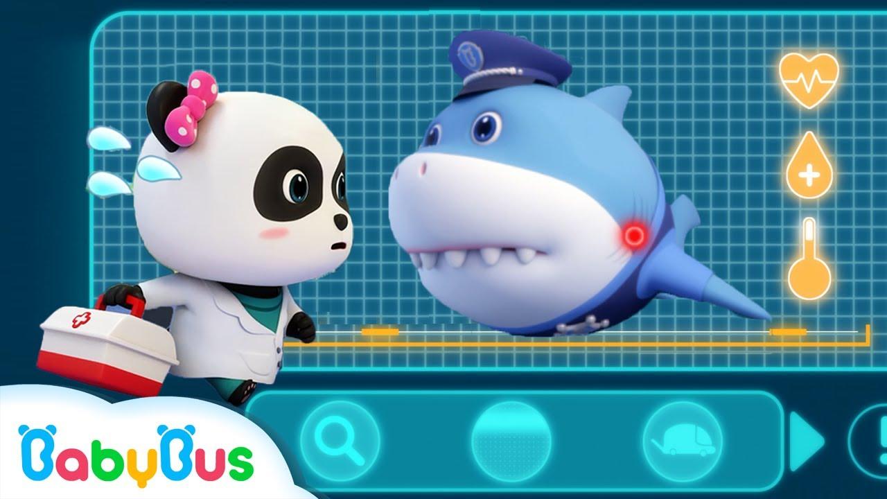 นายอำเภอฉลาม   สุดยอดทีมกู้ภัย   การ์ตูนเด็ก   เบบี้บัส   Kids Cartoon   BabyBus