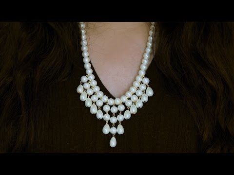How to make necklace | DIY | pearl necklace |  pearl jewellery | Beads art