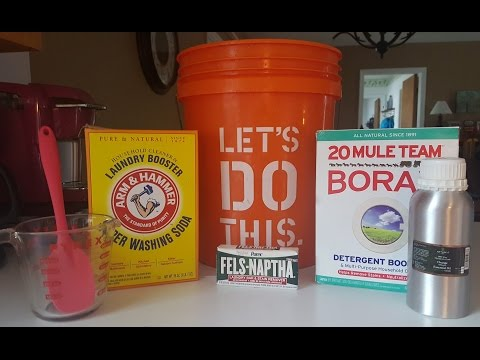 DIY Video Tutorial │How to Make Awesome Stain Removing Liquid Laundry Detergent │ Upbeat and Clean