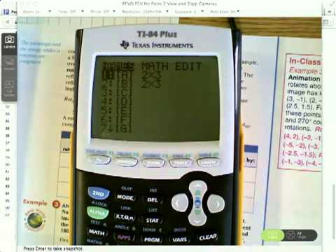 Matrix Addition and Multiplication on a TI-84+ Graphing Calculator