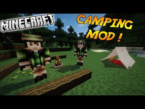 Minecraft Mod Showcase: Camping Mod Campfires,Tents,Lanterns (1.7.10)