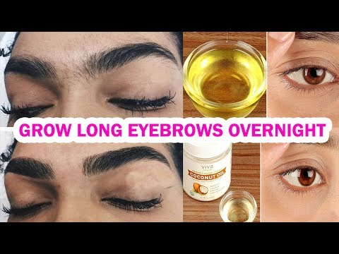 How to grow Long Thicken Eyebrows & Eyelashes OVERNIGHT - 3 NATURAL REMEDIES
