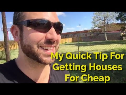 My #1 Simple Trick/Tip For Buying Houses Cheap & Fast (TLTV)