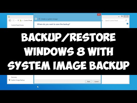 Backup and restore Windows 8/8.1 with System Image Backup