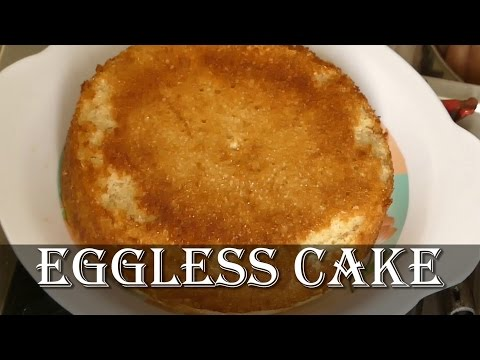 Eggless Cake in Pressure Cooker in Kannada - How to make eggless cake in pressure cooker