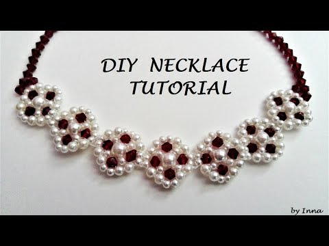 How to make an elegant necklace. Beaded necklace tutorial