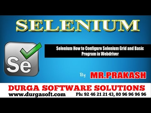 Selenium How to Configure Selenium Grid and Basic Program in Webdriver